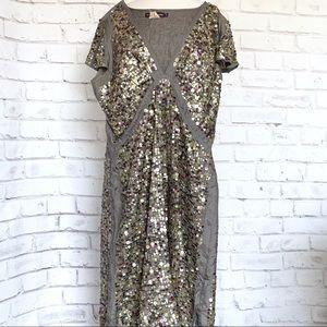 Antik Batik Silk & Sequin Dress